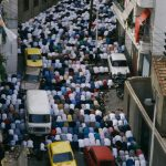 Muslims Pray in the Streets of Algiers