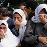 Women Mourning Riot Victims